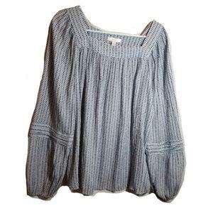 Lauren Conrad Peasant Blouse sz XL